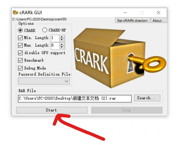 CRARK破解压缩文件的设置方法